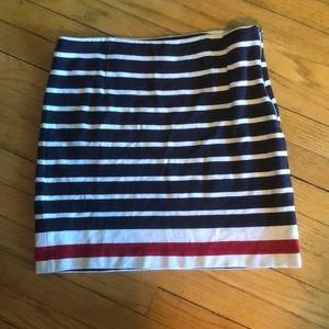 Fitted, striped Banana Republic skirt